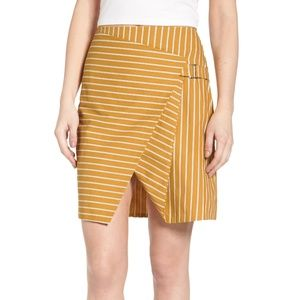 J.O.A. Asymmetrical Stripe Skirt